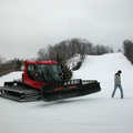 The groomer for the ski hill at Mt. McSauba.