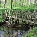 The foot bridge over Hunter's Creek.