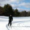 A skier enjoys Loud Creek Ski Trail.