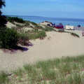 Heading for the beach at Petoskey State Park.