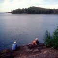 Enjoying Lake Superior at Todd Harbor Campground.