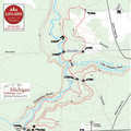 Ocqueoc Falls Bicentennial Pathway map.