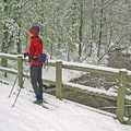 Skiing along Silver Creek at Corsair Trails.