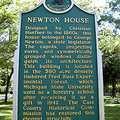 Located next to Fred Russ Park is the historic Newton House.