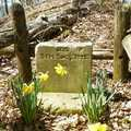 A headstone seen along the trail at Kirk Park.