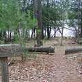 A trail sign at Otter Lake.