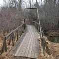 A foot bridge along Graham Lakes Trail.