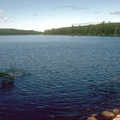 Fishing Chickenbone Lake along Indian Portage Trail.