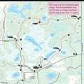 Graham Lakes trail map.