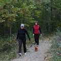 Hikers on the Good Harbor Bay Trail.