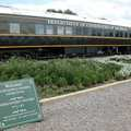 The Wolverine train car at Oden State Fish Hatchery