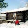 Honeymoon Cabin in the winter.
