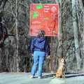 Pooch and owner enjoying the Paint Creek Trail.