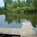 A pond and dock at For-Mar Nature Preserve.