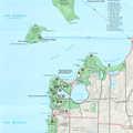 Sleeping Bear Dunes National Lakeshore map.