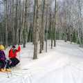 Skiers take a break at Algonquin.