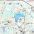 Highland Recreation Area Hike/Ski Trails map.