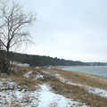 The winter shoreline at Mt. McSauba.