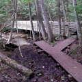 The foot bridge across Minnehaha Creek.