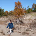 Hiking among the dunes at North Point Nature Preserve.