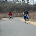 Cyclists on the Chippewa Trail.