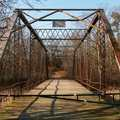 Old Iron Bridge that provides Campers Trail access.