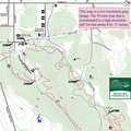 Avalanche Preserve mountain bike trail map.