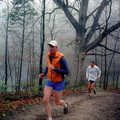 A trail runner on Crooked Lake Trail.