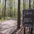 The start of the nature trails at Oakwoods Metropark.