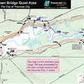 Brown Bridge Quiet Area trail map.