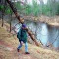 Hiking along the South Branch of the Au Sable River.