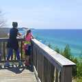 Mother and daughter enjoying the view at Green Point Dunes.