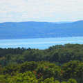 The view of Lake Charlevoix from Driggers Memorial Preserve.