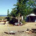 Shoreline campsite at Leelanau State Park