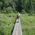 The Little Carp River crossing along Beaver Creek Trail.