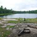 A lakeside campsite on Byron Lake.