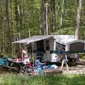 Campers at Lake Ann State Forest Campground.