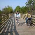 A wetlands boardwalk along the Little Traverse Wheelway.