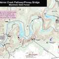 Warner Creek Pathway map.-Pinney Bridge
