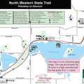 North Western State Trail Petoskey to Alanson Map