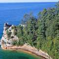 Miners Castle, Pictured Rocks' most famous rock formation.