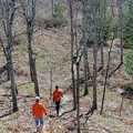 Hikers following a trail at Houdek Dunes Natural Area