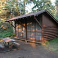 A campground shelter at Isle Royale National Park.