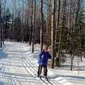 Algonquin features a lighted trail for night skiing.