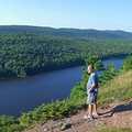 A hiker on the Escarpment Trail.