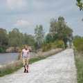 Walking Middle Causeway Loop at Pointe Mouillee.
