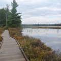 A boardwalk along Wakeley Lake.
