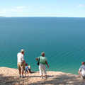 On the edge of a perched dune at Pyramid Point.