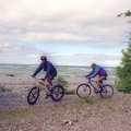 Mountain biking at Thompson's Harbor State Park.
