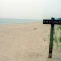 A beach sign at Warren Dunes State Park.